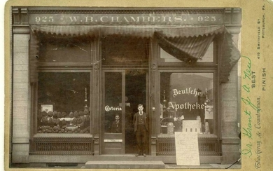 c1890s PA GERMAN PHARMACY, DR. GRANT, J. A. NEW