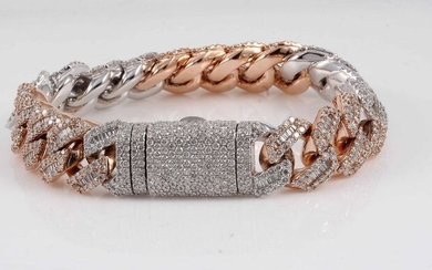 14 kt. Gold - Bracelet - 17.22 ct Diamond - Diamonds