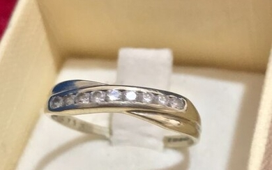 14 kt. White gold - Ring - 0.36 ct Diamond