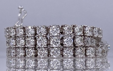 18 kt white gold tennis bracelet - with 3.30ct diamonds - No reserve price!
