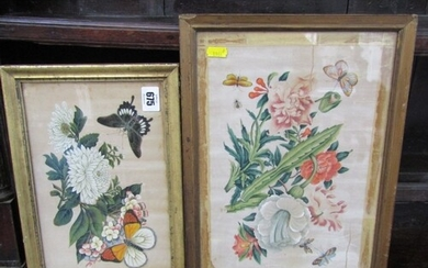 19TH CENTURY CHINESE SCHOOL, two watercolours on rice paper ...