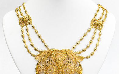 20k Yellow gold necklace