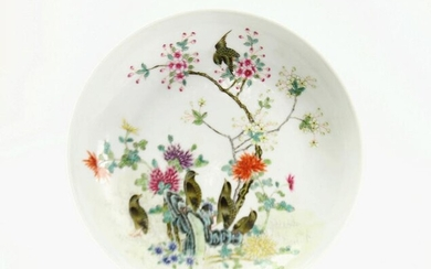 A Chinese Famille Rose Dish