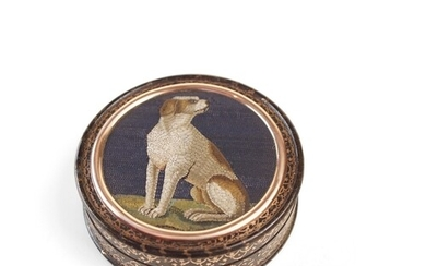A Fine and rare micro mosaic of a hound probable by Giacomo ...