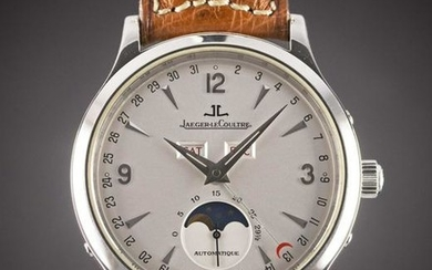 A GENTLEMAN'S STAINLESS STEEL JAEGER LECOULTRE MASTER