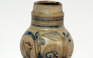 A Mid 18th Century Small Westerwald Jug With A Gr