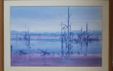 A REPRODUCTION PRINT OF A JOHN BORRACK, 57 X 88CM, FRAME SIZE: 81 X 108CMCONDITION: GOOD CONDITION, SOME MARKS TO THE FRAME, LEONARD...