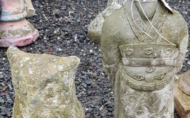 A Stone Owl and a Chinese Warrior.