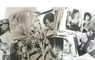A collection of black and white stills featuring male and fe...