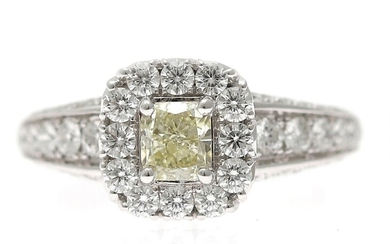 NOT SOLD. A diamond ring set with numerous diamonds weighing a total of app. 2.06...