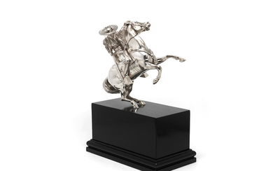 A large Victorian silver model of a picador