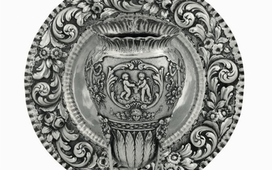 A plate and a vase, 1900s