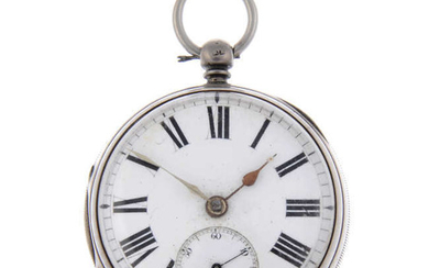 A silver open face pocket watch by Dold & Co. with two silver pocket watches.