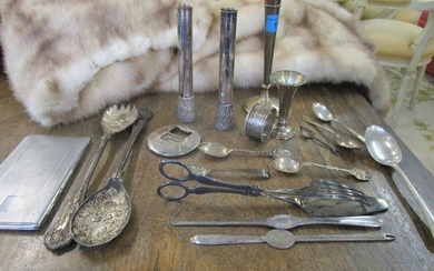 A small group of silver and silver plated items to include t...
