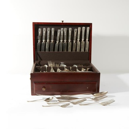 A sterling silver flatware set for twelve, Whiting Mfg.