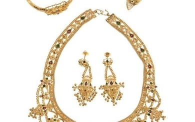 A suite of Indian jewelry