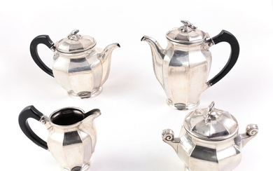 A tea and coffee silver set