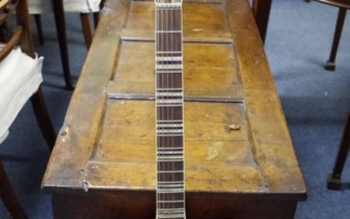 A vintage Hofner Verithin electric guitar, labelled and numbered...