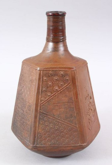 AN UNUSUAL JAPANESE MID - LATE EDO PERIOD STONEWARE