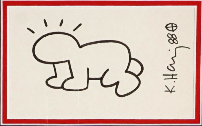 After Keith Haring Crawling Baby Drawing