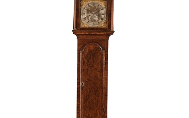 An English 18th century eight-bells longcase clock, dial face marked Collins Wattisfield.