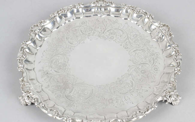 An early Victorian small silver salver.