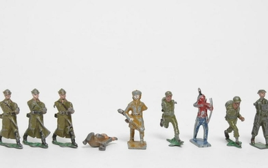 Antique Militaria Lead Toy Figures, 9