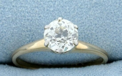 Antique Over 1ct Old European Solitaire Diamond