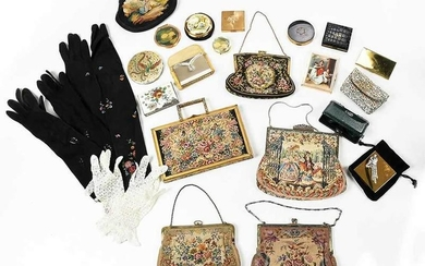 Assorted Group of Vintage Purses and Accessories