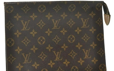 Authentic Louis Vuitton Monogram Poche Toilette 26 Old