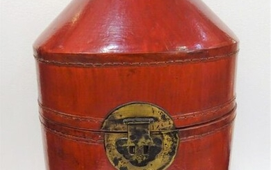 Box - Bronze, Lacquer, Leather, Paper - Chinese hat box - China - Qing Dynasty (1644-1911)