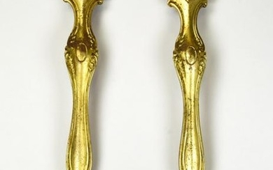 Brass Tone Neo Classical Shell Form Brackets Italy