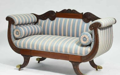 Carved Federal Settee, Ca.1880
