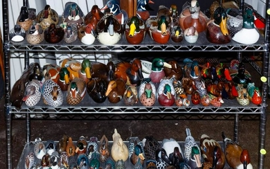 Carved Wood Duck Decoy Assortment