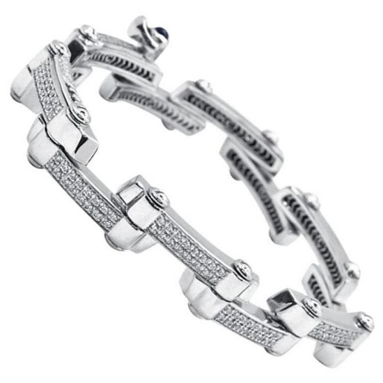 Charriol Limited Edition 18 Karat White Gold Link