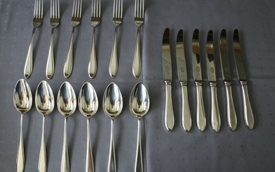 Cutlery set (18) - .833 silver - Netherlands - First half 20th century