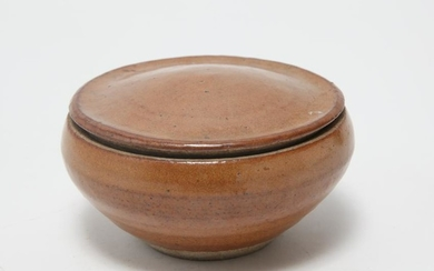 Danish Modern Style Art Pottery Covered Bowl