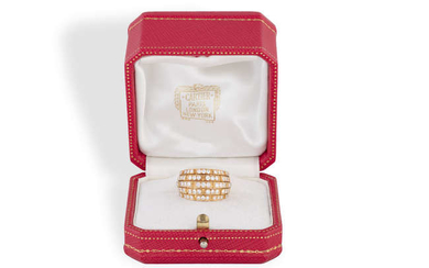 """Description A DIAMOND """"ORIANE"""" RING, BY CARTIER The large..."""