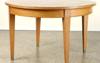 FRENCH OAK DINING TABLE ROUND TOP CIRCA 1940