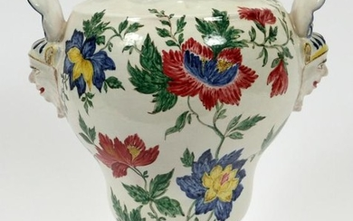 """FRENCH POTTERY VASE, 19TH C. H 14"""""""