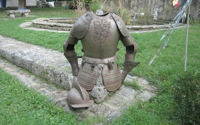 France - full armor steel reiter of the 16th century, full size - 1910