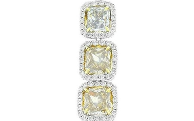 GIA Certified 5.08 Carat Radiant Cut Fancy Colored