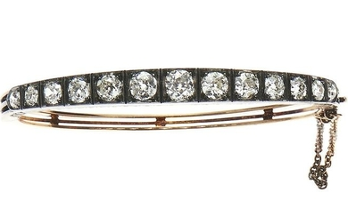 Gold, silver and diamond bracelet, early XX century