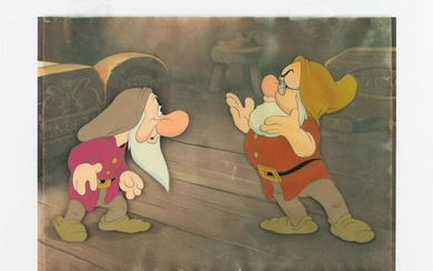 Grumpy and Doc production cels from Snow White and the