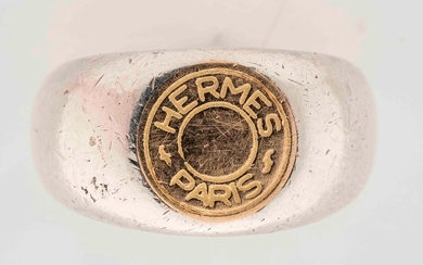 HERMES Paris - Silver and gold ring with...