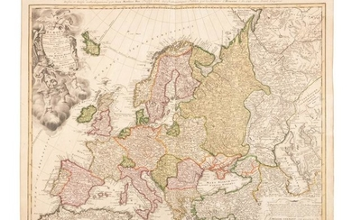 Homann map of Europe 1743