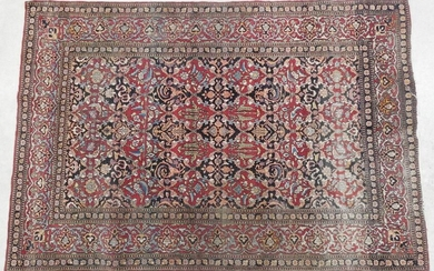 ISPAHAN wool carpet with flowers and foliage decoration...