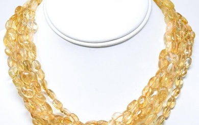 Kenneth Lane Signed Citrine Necklace w 650 Carats