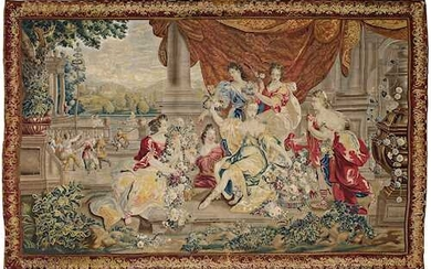 """LARGE TAPESTRY """"Allegory of Spring"""""""