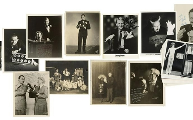 Lot of 32 Magicians Photographs, Some Signed. Early to